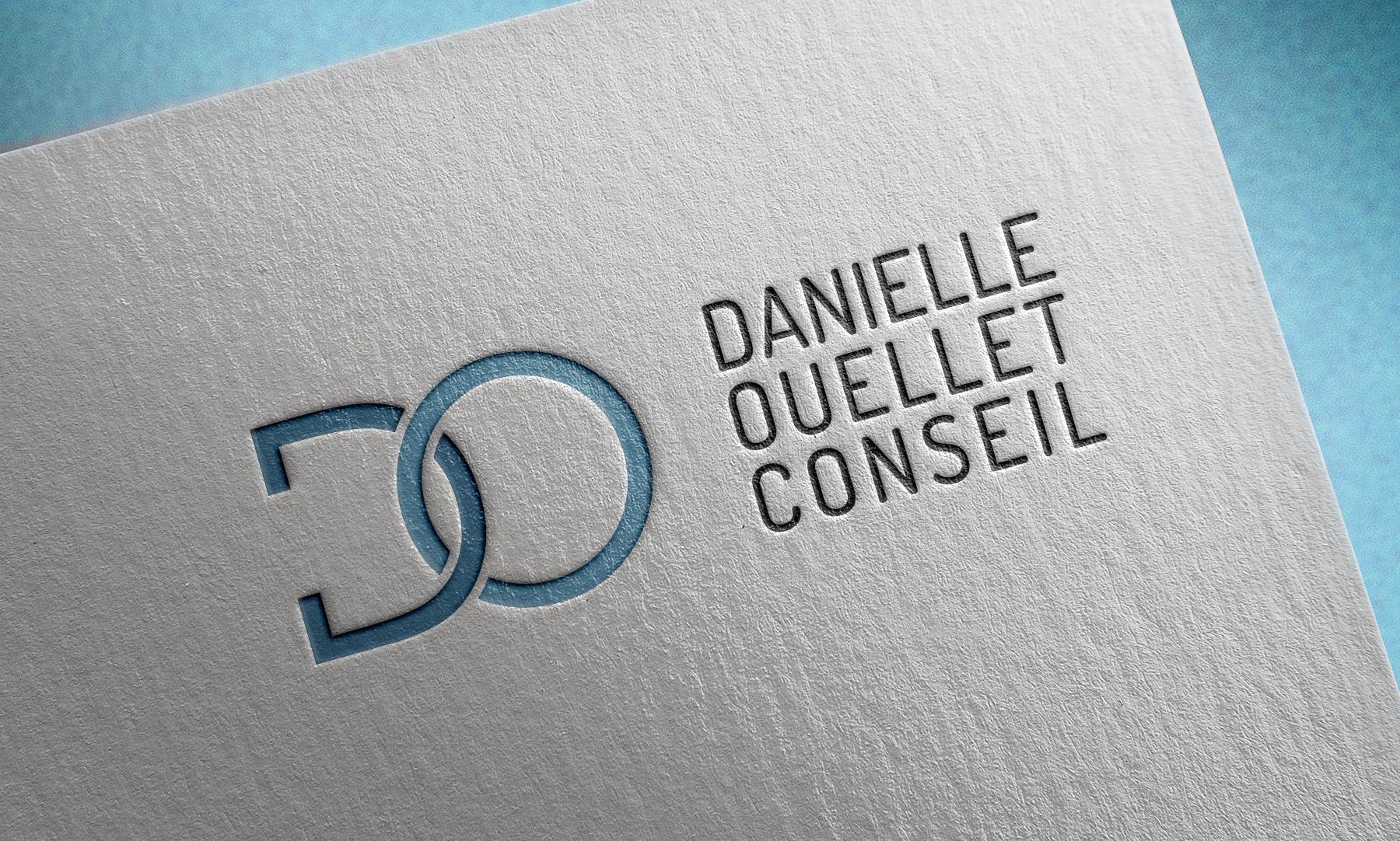 Danielle Ouellet conseil logo mockup