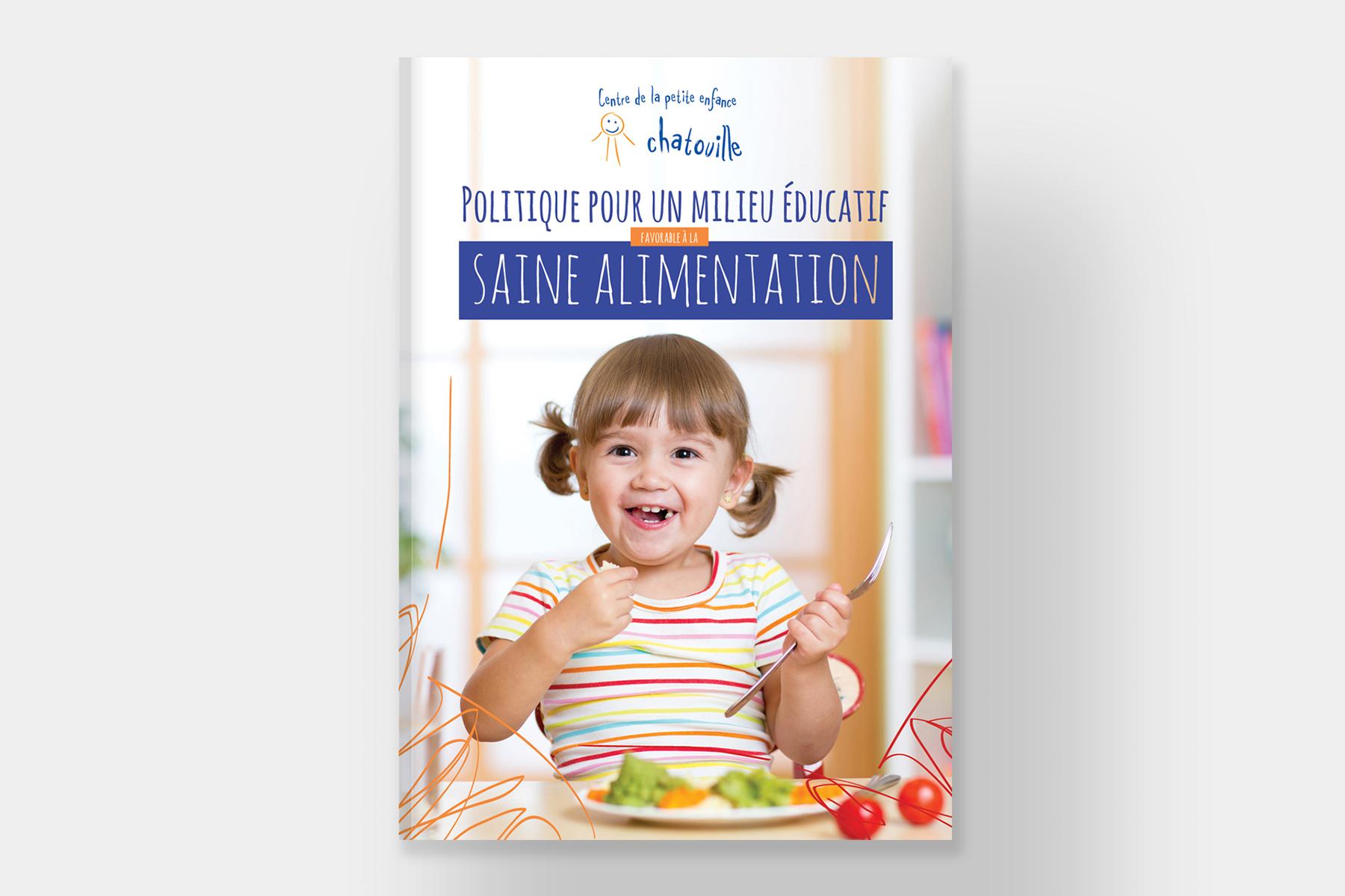 Page couverture de la brochure de la politique alimentaire du CPE Chatouille