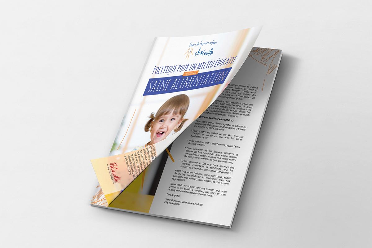 Brochure - Politique alimentaire du CPE Chatouille