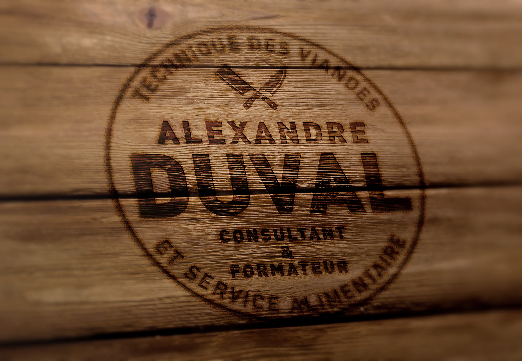 Duval Logo sur bois