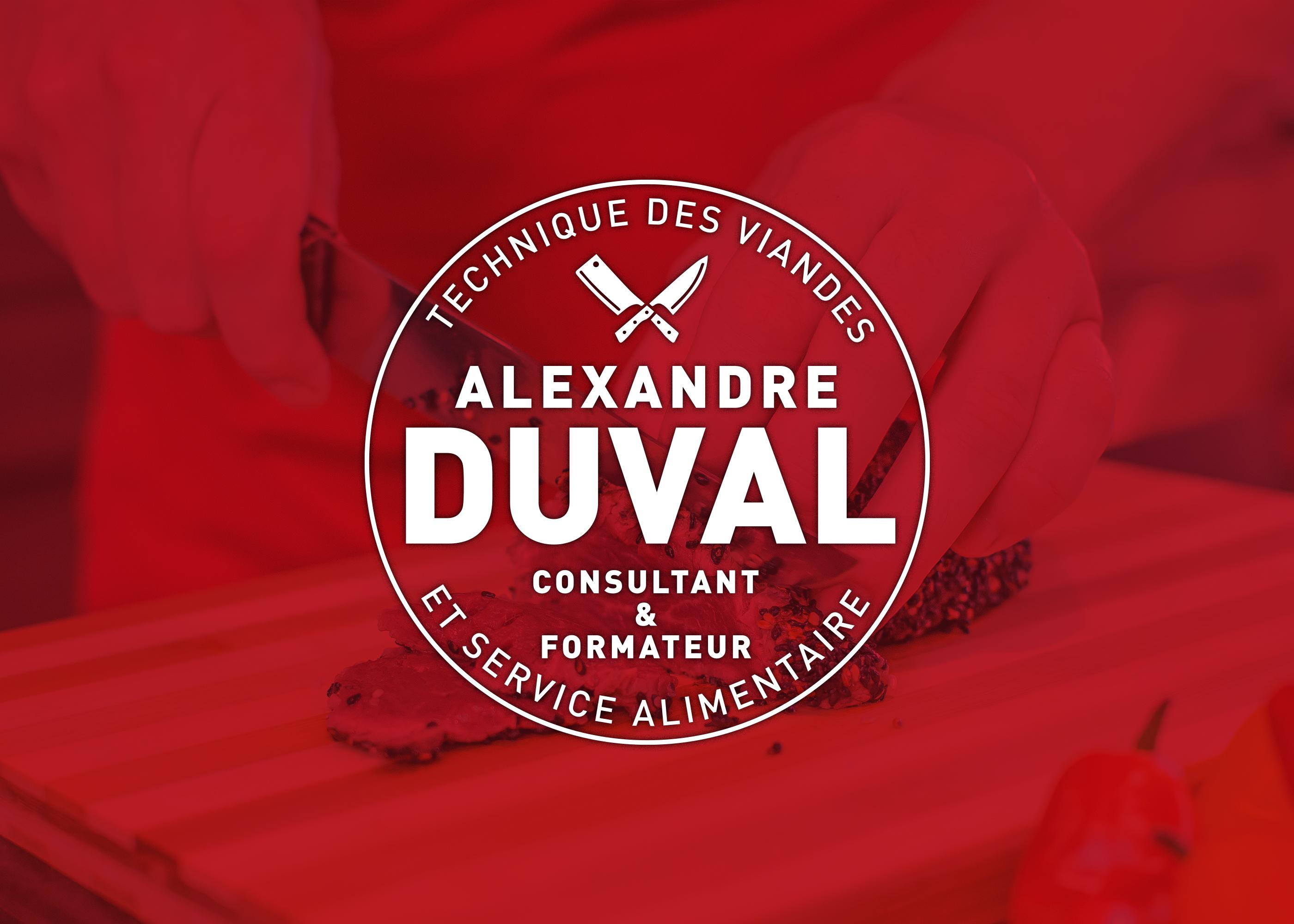 Logo Duval renversé sur fond rouge