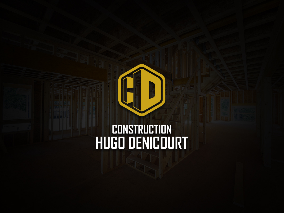 Logo construction Hugo Denisourt sur fond noir