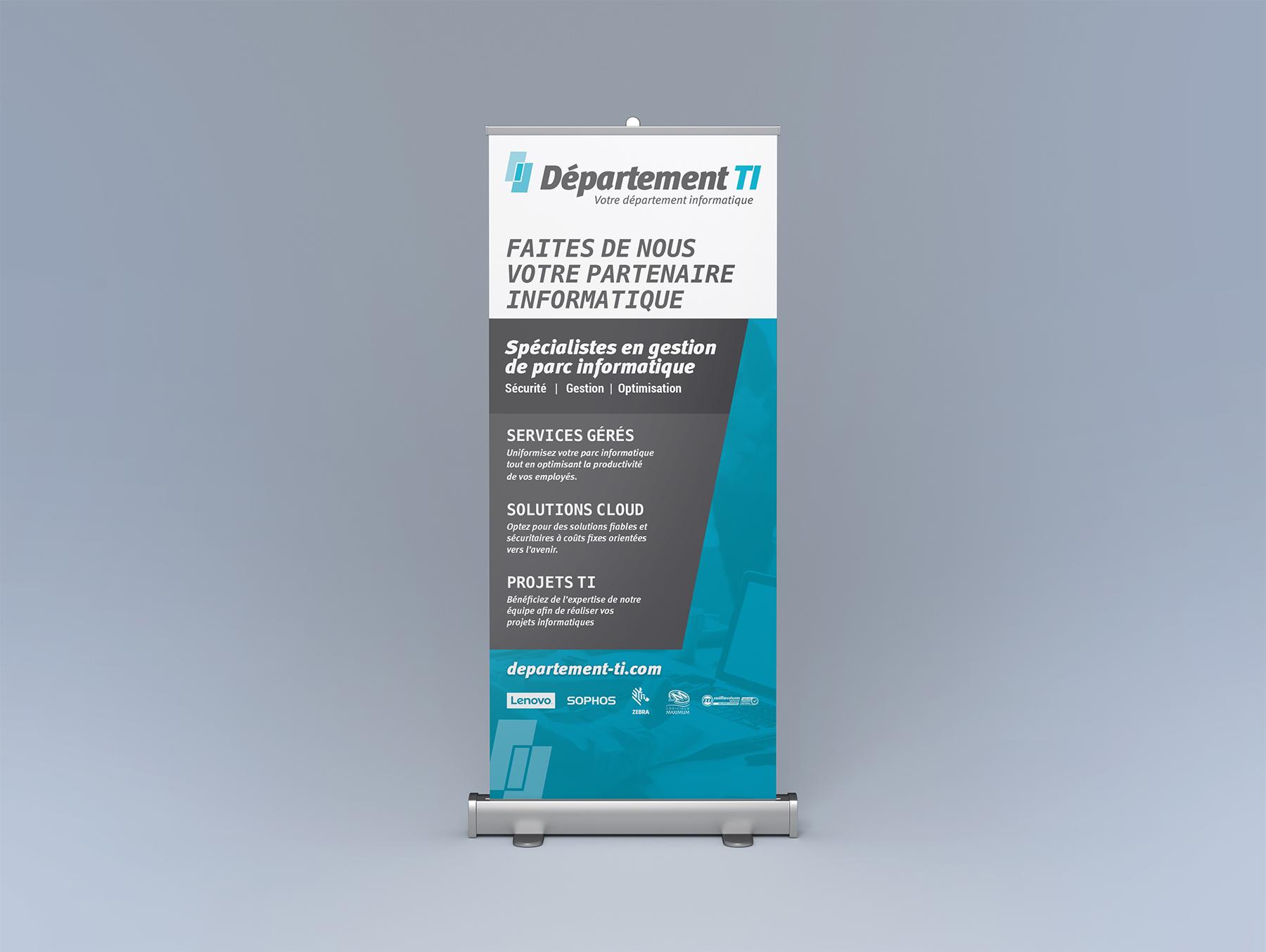 Affiche rétractable (roll-up) pour Département TI